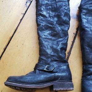 Frye tall zip up boots